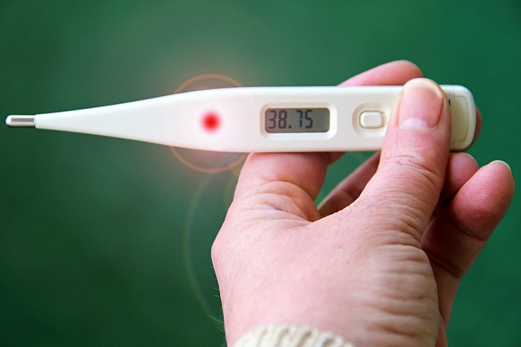 thermometer, fever, number
