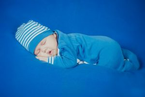 baby in blue